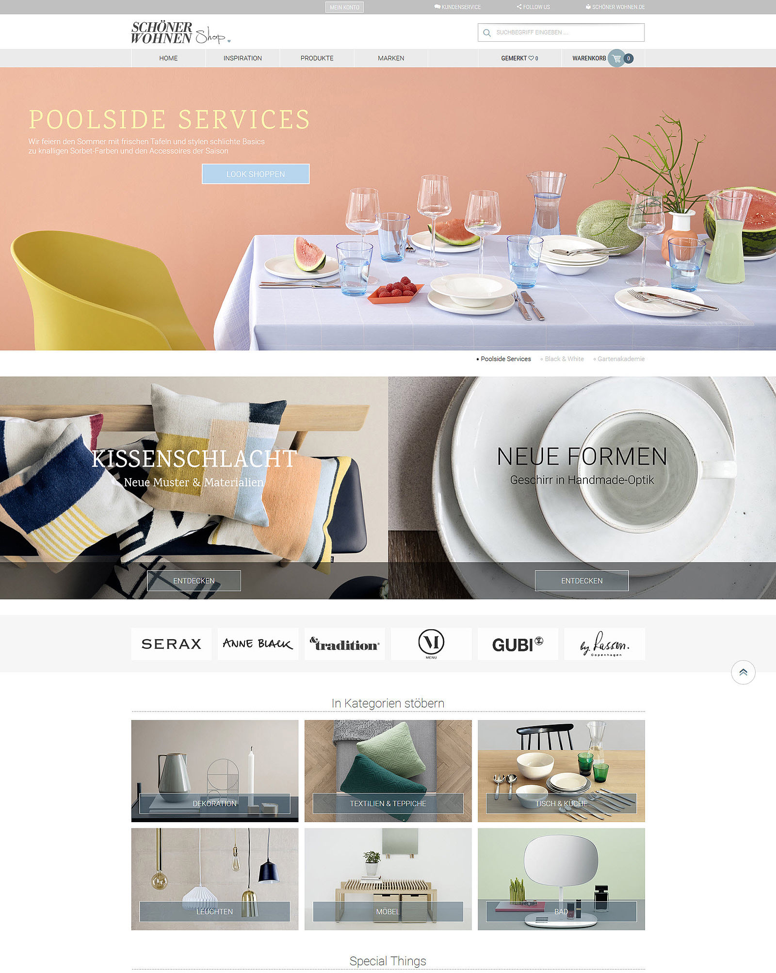 Sch ner wohnen launches own online shop for Onlineshop wohnen